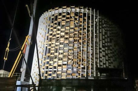 Padiglione in legno Uruguay a Expo 2015 - Costruzione