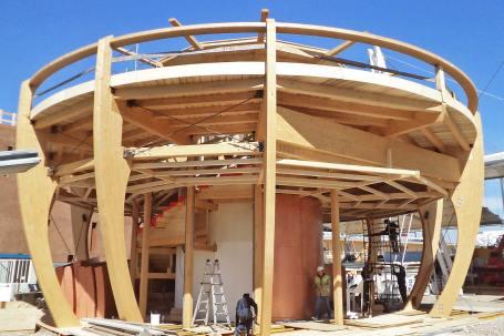 Cantiere Padiglione in legno birra Moretti Expo 2015 - Mozzone Building System 22