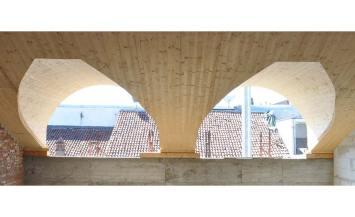 Tetto in legno BBS 600mq per edificio storico