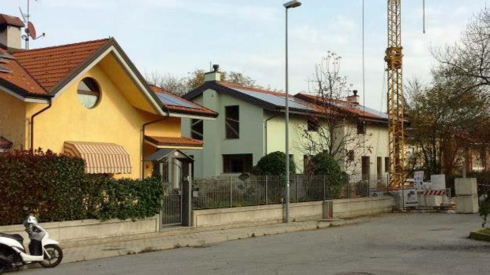 Casa in legno a telaio, 2 piani a Cervasca Cuneo - cantiere 02