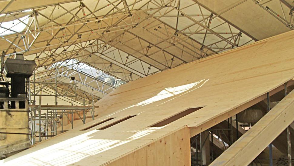 Cantiere ampliamento edilizia storica con legno BBS ad Alassio, Savona - Mozzone Building System