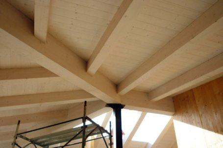 Cantiere villetta in legno x-lam BBS a Picchi Cherasco - soffitto 01