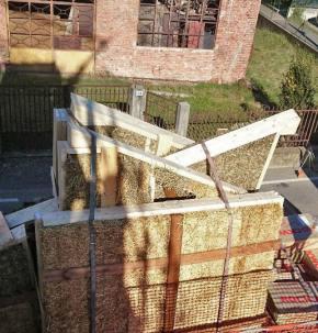 Case in paglia - sopraelevazione in legno e paglia ad Arona - Cantiere 03