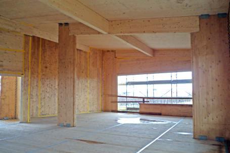 Cantiere - Scuola in legno antisismica x-lam bbs a Vigarano Mainarda, Ferrara