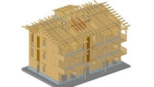 Palazzina legno xlam BBS - Fossano - render 01