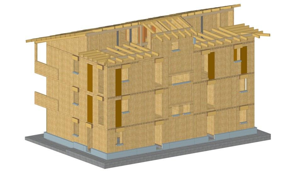 Palazzina legno xlam BBS - Fossano - render 03