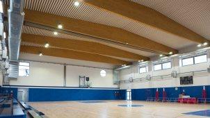 Copertura legno lamellare Polivalente Brescia Via Collebeato 02 - Mozzone Building System