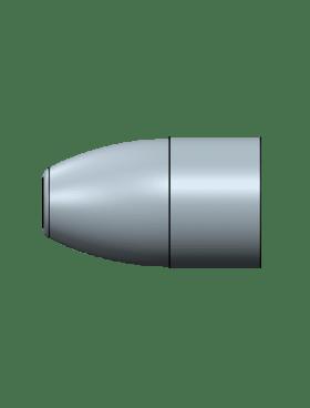 356/359-125 Flat Round Nose, Flat Base, 8 Cavity Aluminum No Lube Groove Mold – .356