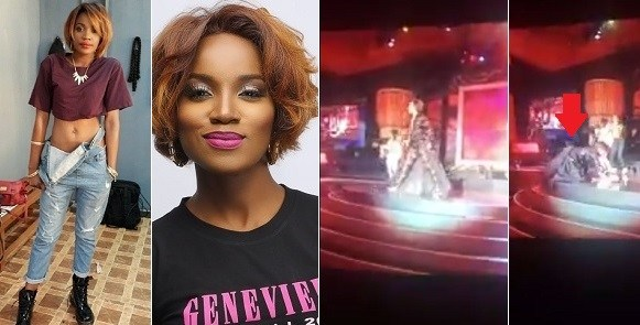 The Show Must Go On, Despite Falling On Stage - Seyi Shay