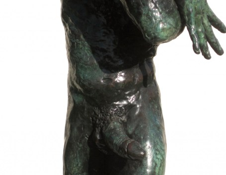 nude male bronze sculpture by artist Manuel Palacio