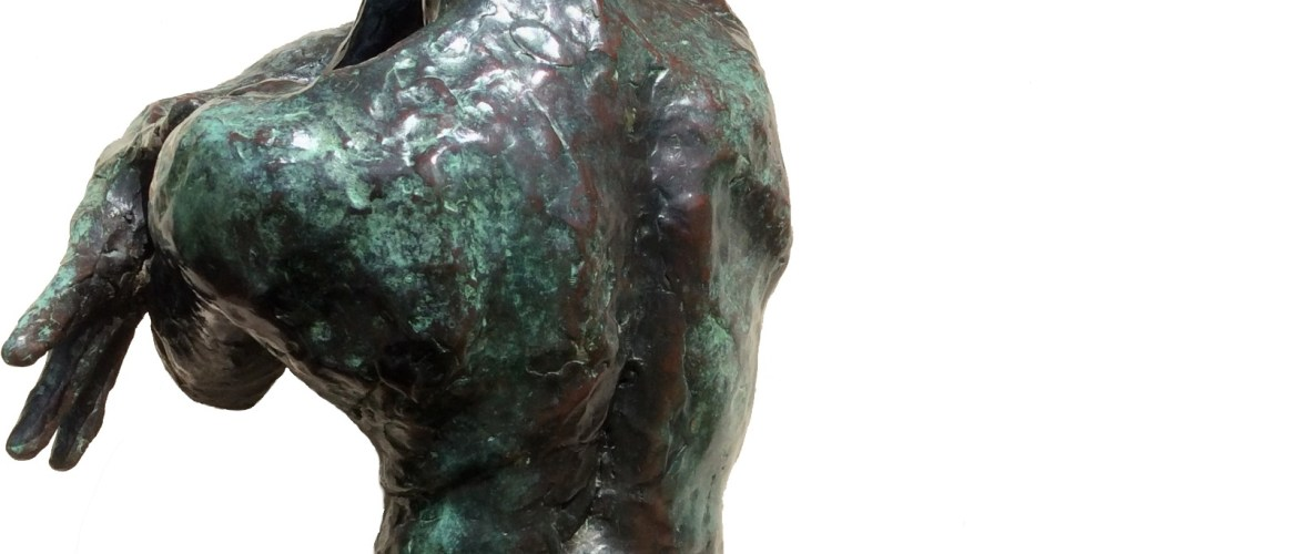El Bembón, bronze, male nude, sculpture by Manuel Palacio