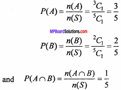 MP Board Class 11th Maths Important Questions Chapter 16 Probability 10