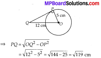 MP Board Class 10th Maths Solutions Chapter 10 Circles Ex 10.1 1