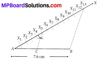 MP Board Class 10th Maths Solutions Chapter 11 Constructions Ex 11.1 1
