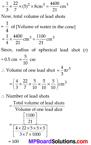 MP Board Class 10th Maths Solutions Chapter 13 Surface Areas and Volumes Ex 13.2 9