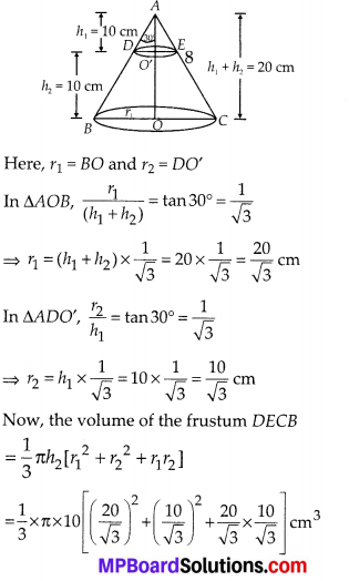 MP Board Class 10th Maths Solutions Chapter 13 Surface Areas and Volumes Ex 13.4 9