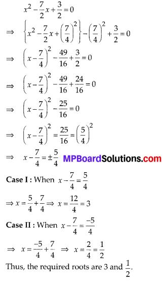MP Board Class 10th Maths Solutions Chapter 4 Quadratic Equations Ex 4.3 1