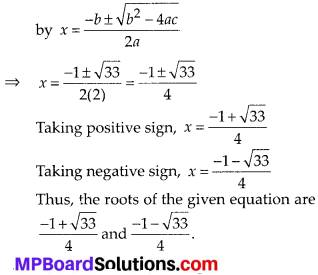 MP Board Class 10th Maths Solutions Chapter 4 Quadratic Equations Ex 4.3 7