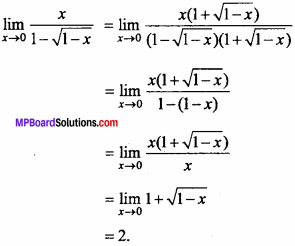 MP Board Class 11th Maths Important Questions Chapter 13 Limits and Derivatives 14