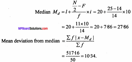 MP Board Class 11th Maths Important Questions Chapter 15 Statistics 9