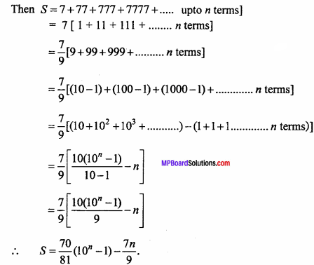 MP Board Class 11th Maths Important Questions Chapter 9 Sequences and Series 13