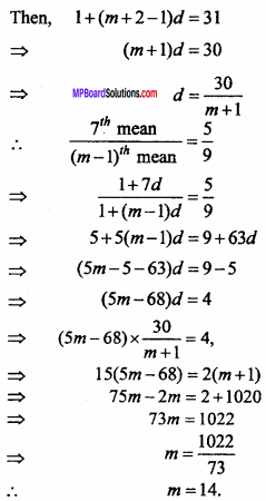 MP Board Class 11th Maths Important Questions Chapter 9 Sequences and Series 9