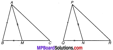 MP Board Class 9th Maths Solutions Chapter 7 त्रिभुज Ex 7.3 3