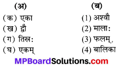MP Board Class 6th Sanskrit Solutions विविधप्रश्नावलिः 1 Q 6