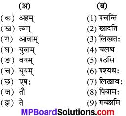MP Board Class 6th Sanskrit Solutions विविधप्रश्नावलिः 1 Q 9