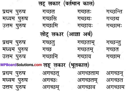 MP Board Class 9th Sanskrit व्याकरण धातु और क्रिया img-4