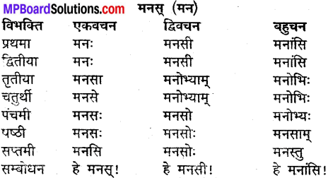 MP Board Class 9th Sanskrit व्याकरण शब्द रूप img-22