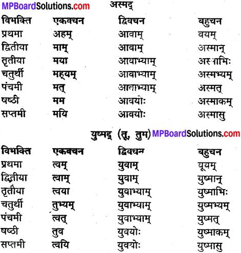 MP Board Class 9th Sanskrit व्याकरण शब्द रूप img-25