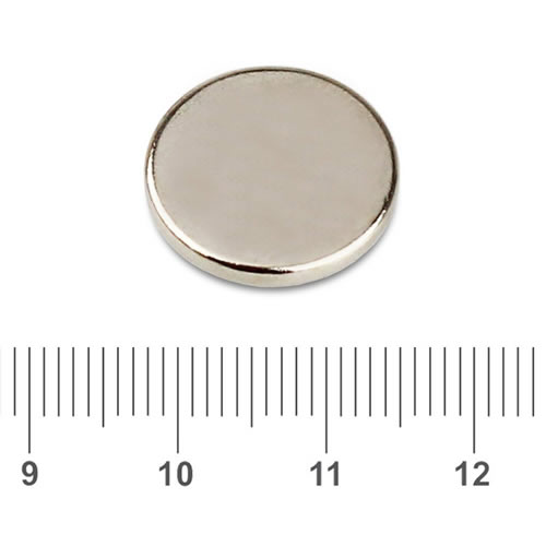 14mm x 2mm Strong Disc Rare Earth Magnet N42 Nickel