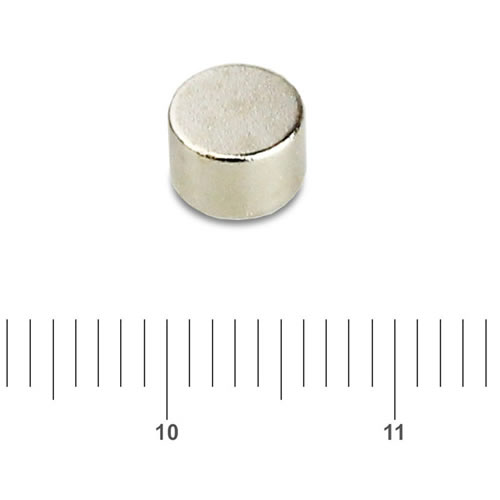 6mm x 4mm Disk Round Permanent Magnet NdFeB N45 Ni