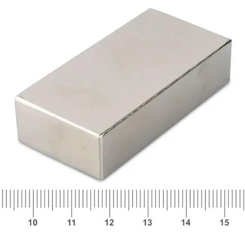 60 x 30 x 15mm Block Super Strong Permanent Magnet N40 Ni