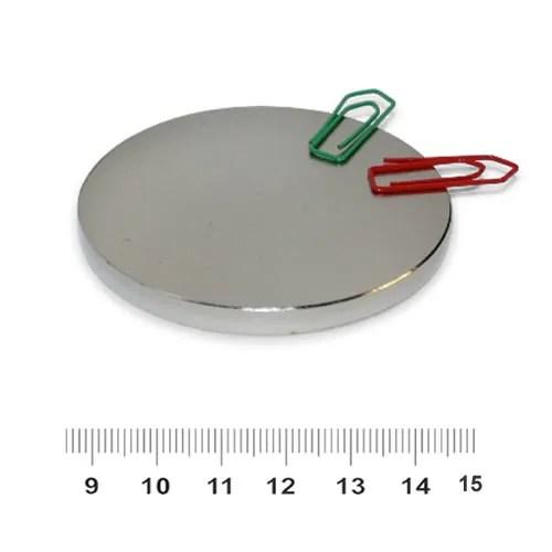 60mm x 5mm Rare Earth Disc NdFeB Magnet N40 Ni