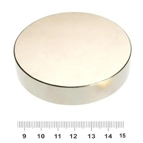 70mm x 15mm Disc NdFeB Supermagnet N45 Nickel