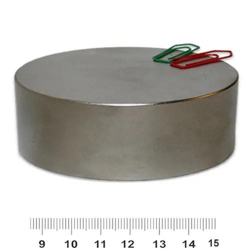 80mm x 30mm Huge Disk Magnet Neodymium N45 Nickel