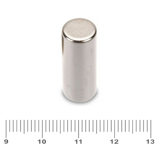 10 x 25mm NdFeB Rod Rare Earth Magnet N48 Ni