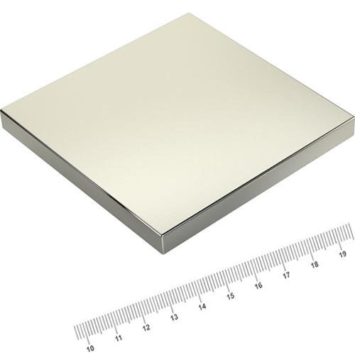 100 x 100 x 10mm Square Rare Earth Power Magnet N52 Ni
