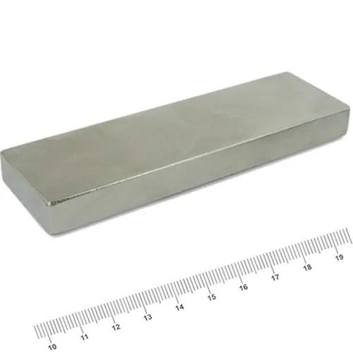 100 x 30 x 10mm Strongest Neodymium Magnet Block N52 Ni