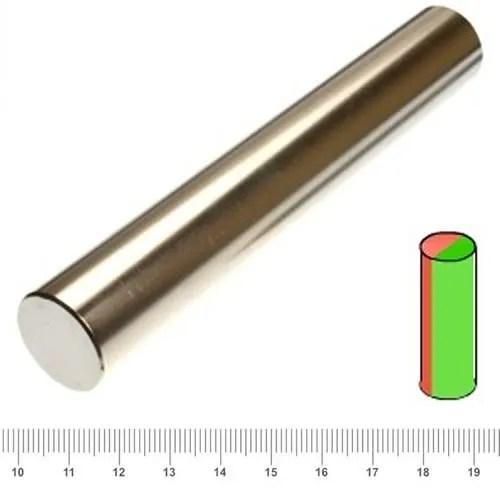 25 x 160mm Giant Rod Magnet Neodymium Radial N45 Ni