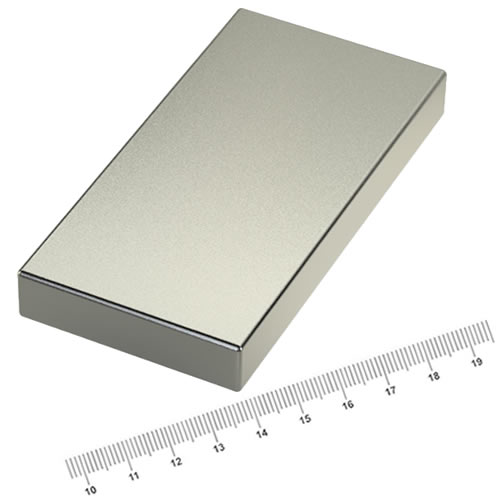 80 x 40 x 10mm Powerful Neodymium Magnet Block N45 Ni