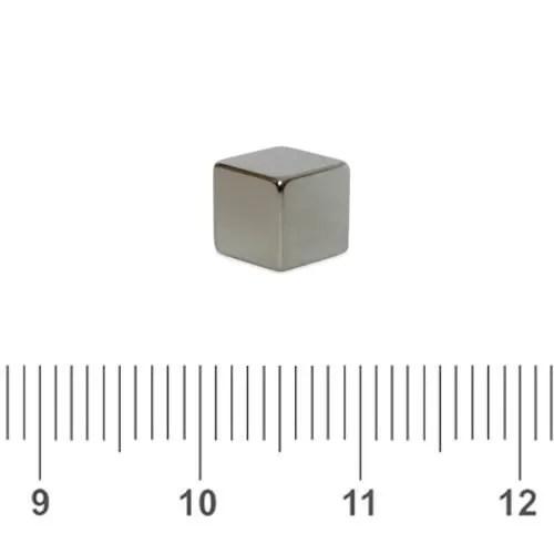Cube Neodymium Magnet Chrome N45 5mm
