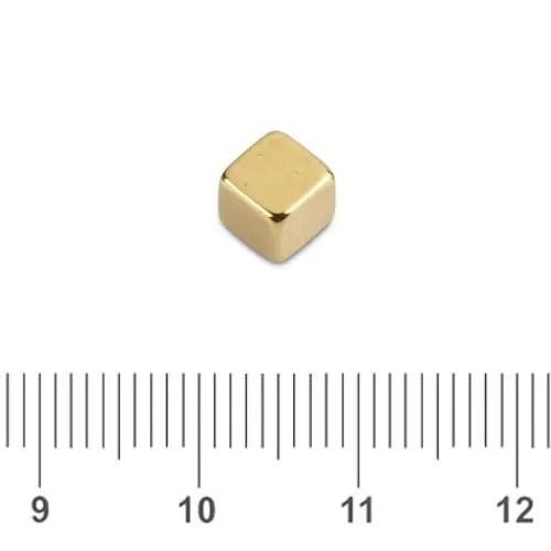 Gold Plating NdFeB Cube N50 5mm