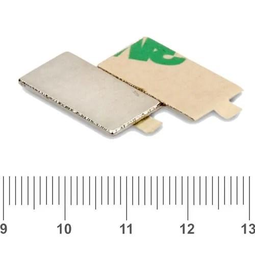 3M Neodymium Selfadhesive Magnet N35 20 x 10 x 1mm