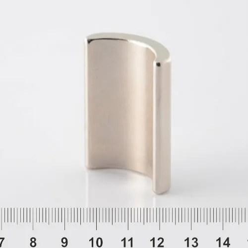 Generator Neodymium Arc Magnet Nickel N40SH