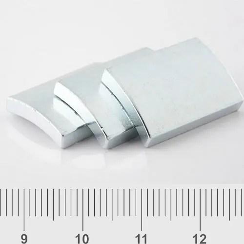 Motor Arc Magnet Zn Coating N52