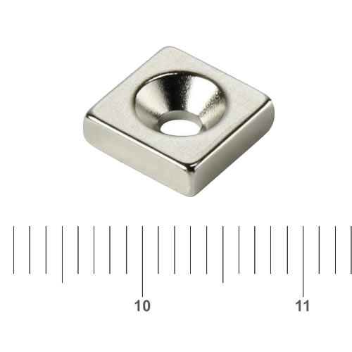 Block Countersunk Magnet