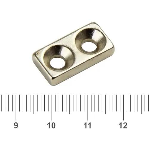 Countersunk Neodymium Block Magnet
